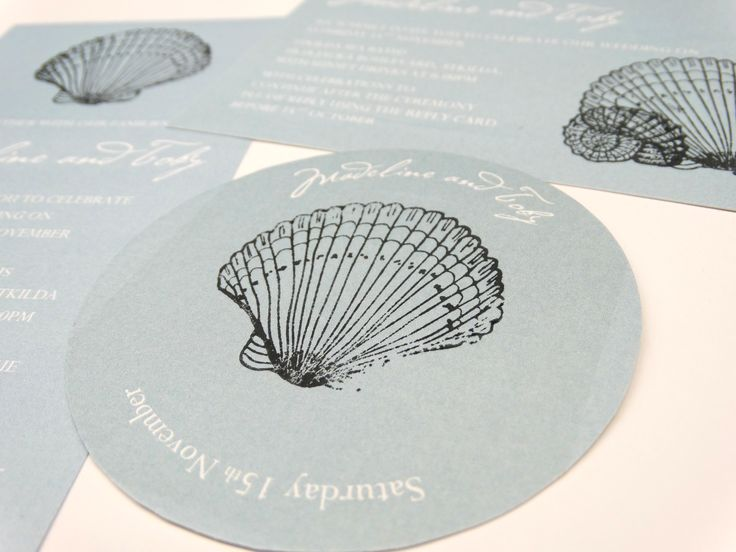 We made personalised coasters for this coastal wedding