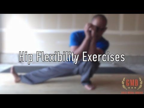 Hip Flexibility Exercises; Will be great for helping healing any injuries along! For me, my hip flexor has gotten so much better by doing stretches and strengthening!!!