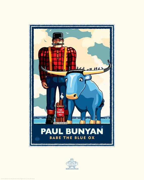 Landmark Series MN | Paul Bunyan Lakeside | Minneapolis, MN by Graphic Artist, Mark Herman