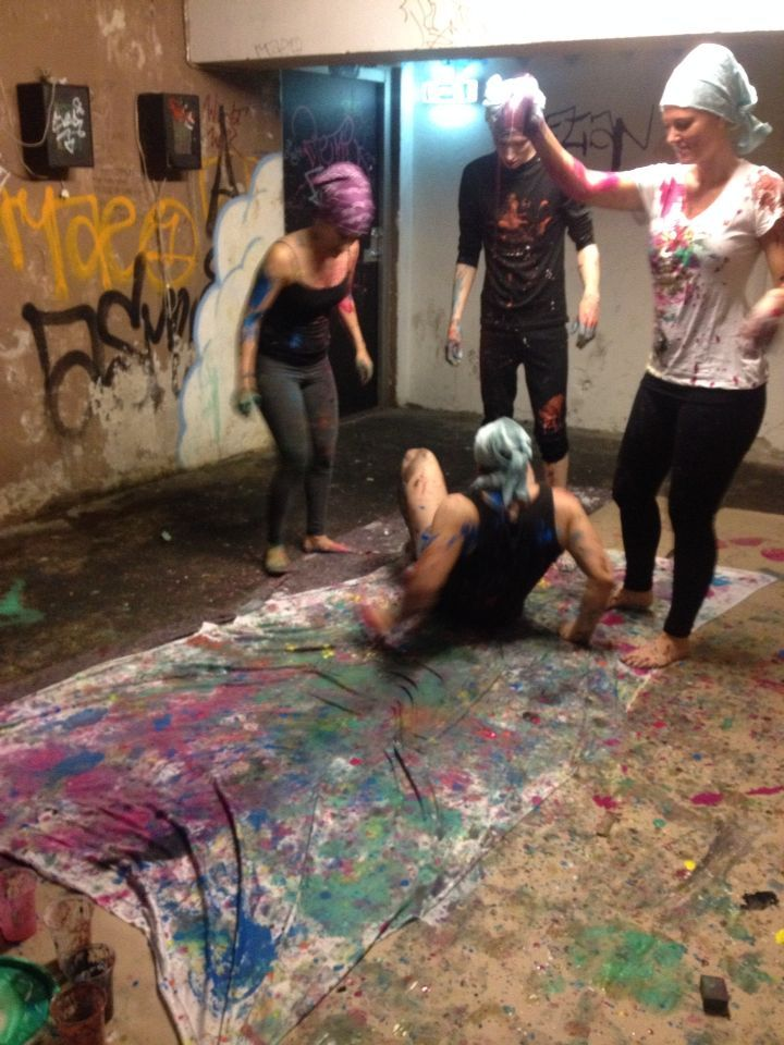 Dancing and Painting - Using bodies to paint