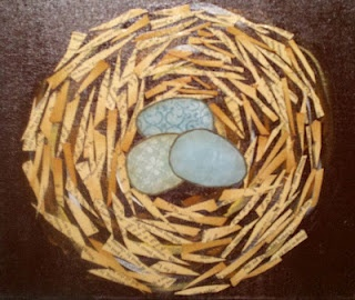 Mixed Media nest by 11 year old