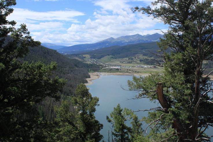 Lookout over Lake Dillon, near Brekenridge in the Rocky Mountains, Colorado