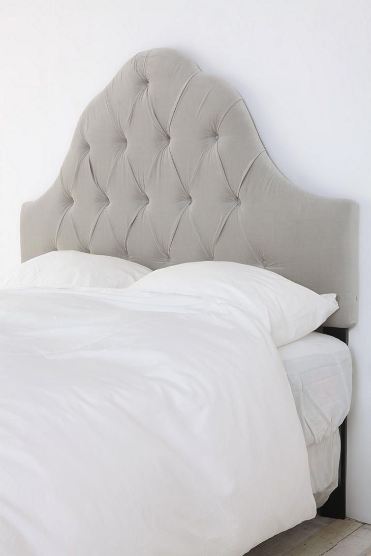 best tufted headboards images on pinterest  tufted headboards  - velvet tufted headboard  light grey