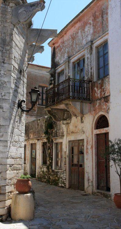 Alley.. Chalki island, Greece (by fotisvr on Flickr)