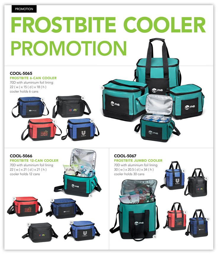 Frostbite cooler with your company logo