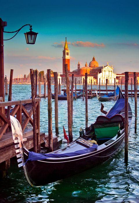 Gondola stand in Venice