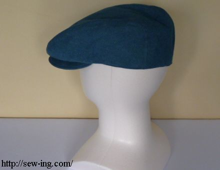 Flat cap sewing pattern- has printing pattern