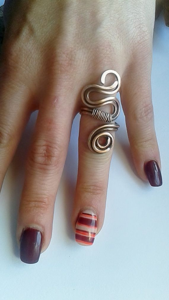 Copper ringCopper wire ringWire ring by Tangledworld on Etsy