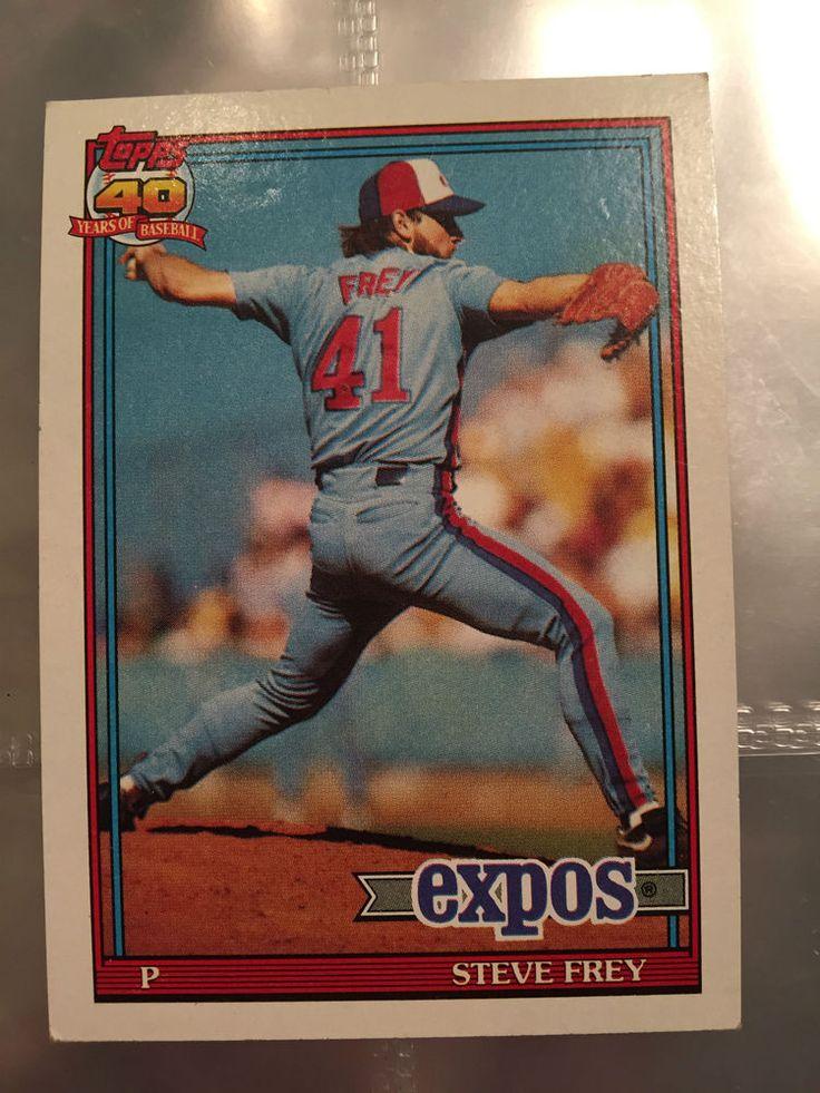 1991 Topps Steve Frey Montreal Expos 462 Baseball Card