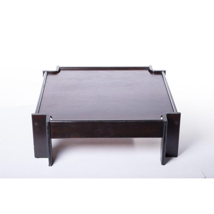 Tavolino quadrato Zelda designer Sergio Asti produttore Poltronova paese Italia 1961 colore marrone in legno