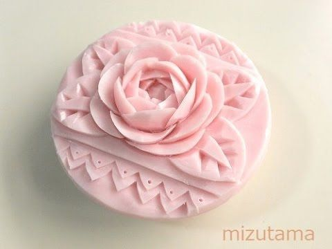 Soap carving tutorial for carving a rose. (step 1) - YouTube