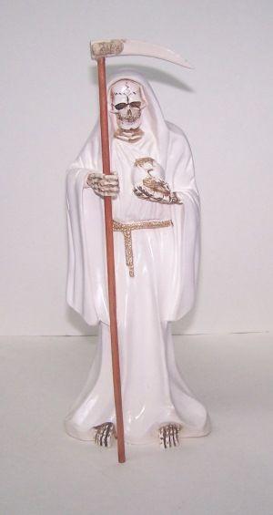 Santa Muerte White Statue
