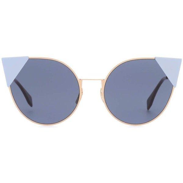 Fendi Cat-Eye Sunglasses (€400) ❤ liked on Polyvore featuring accessories, eyewear, sunglasses, glasses, blue, lunettes, blue cat eye sunglasses, cat eye sunglasses, blue sunglasses and fendi eyewear
