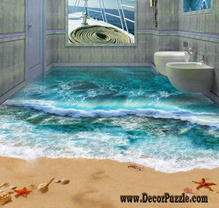 1937 best 3d floors images on pinterest for Bathroom floor ideas uk
