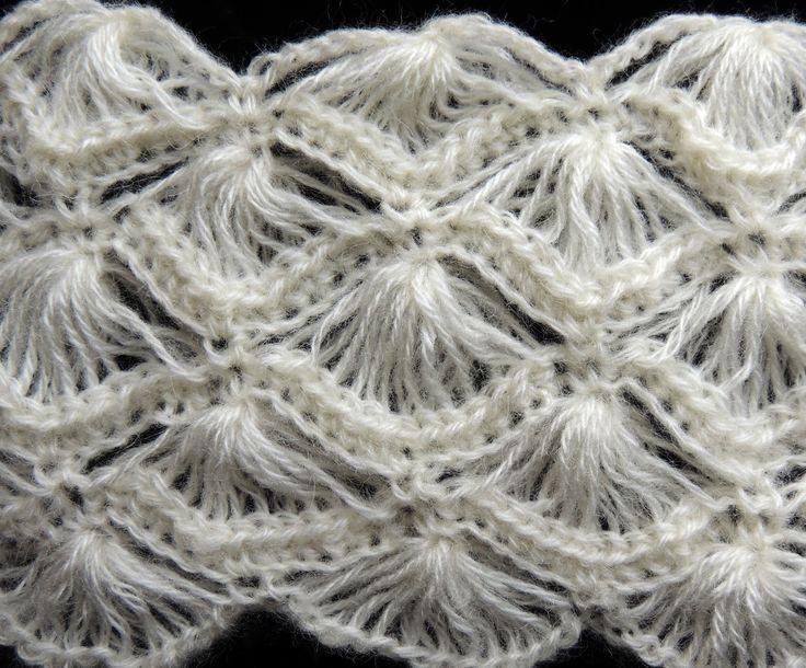 Crochet : Punto Abanico # 4  Crochet sampler stitch. punto molto bello per scialli e stole!