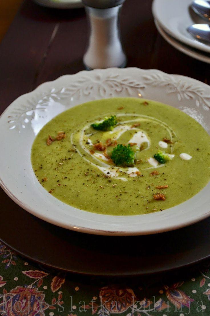 Moja slatka kuhinja: Krem supa od brokolija