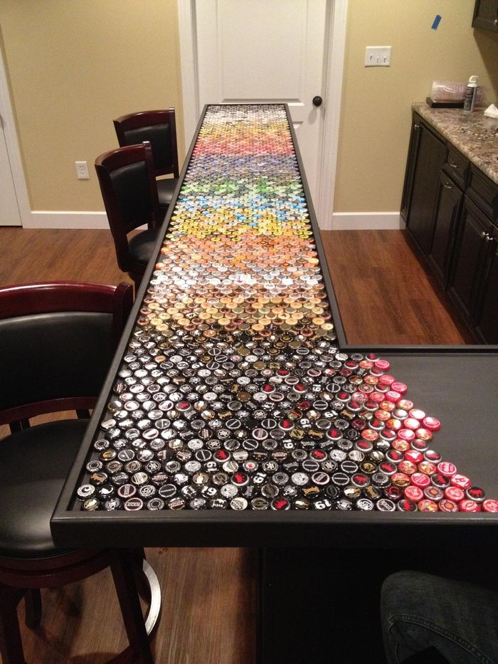 Build An Awesome Custom Bottle Cap Bar Top U2013 Your Projects@OBN