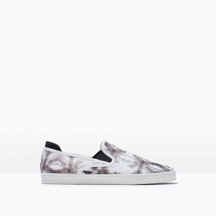 ZARA - HEREN - SLIP-ON MET PRINT