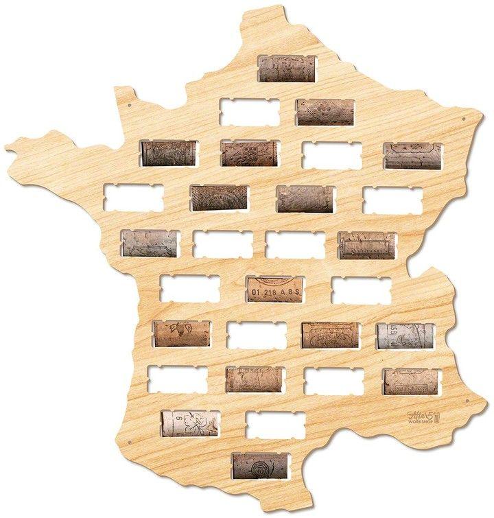 AFTER 5 France Wine Cork Map