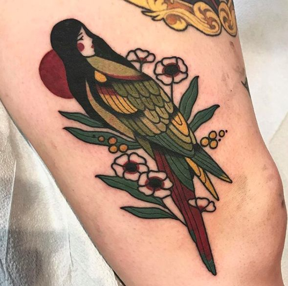 parrot lady tattoo   – Art & Tattoos