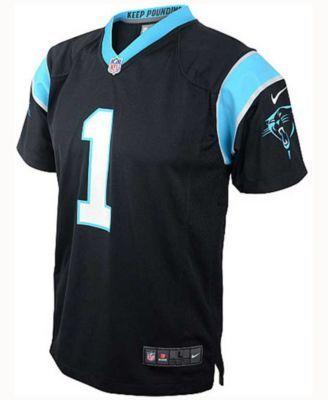 Nike Babies' Cam Newton Carolina Panthers Game Jersey - Black 24 months