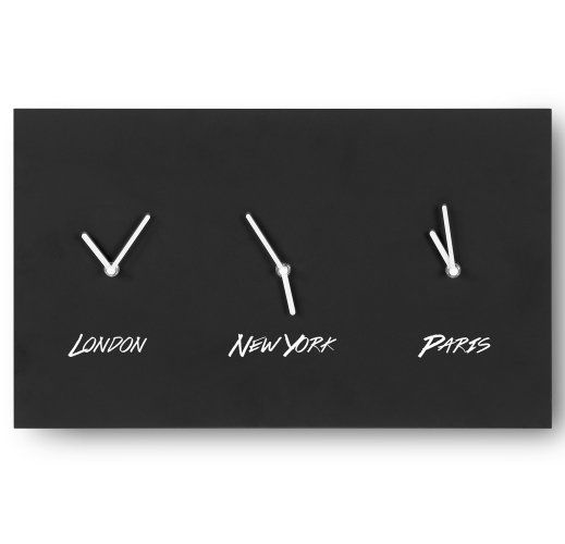 The Palin Wall Clock in Black and White. Modern and practical. Customisable with a blackboard face. £59 | MADE.COM