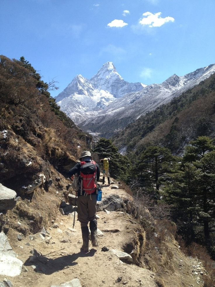 Hiking to Tengboche with Amadablum in the background #MeetTheMoment