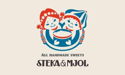 STEKA&MJOL ロゴデザイン カフェ飲食店中心のデザイン制作 Alnico Design