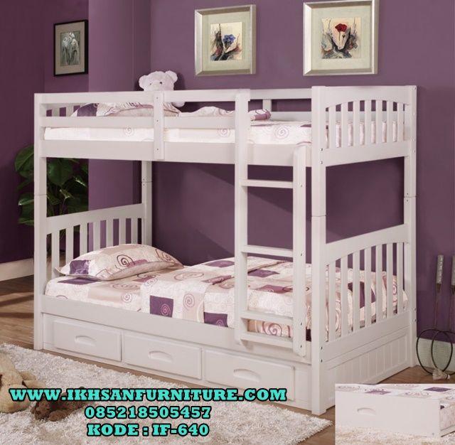 Tempat Tidur Anak Tingkat Minimalis Murah Cat Duco IF-640