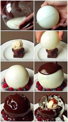 Le dessert le plus spectaculaire…et délicieux que vous n'aurez jamais servi à vos invités! - Trucs et Bricolages