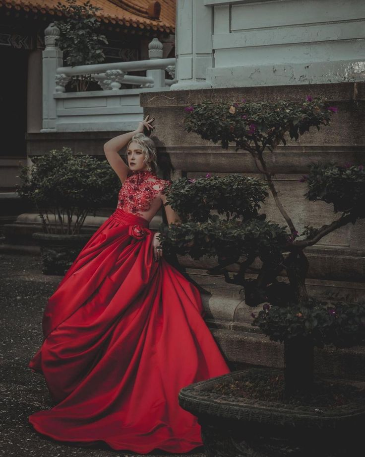 lady in red weddingseries reddress lafattebridal