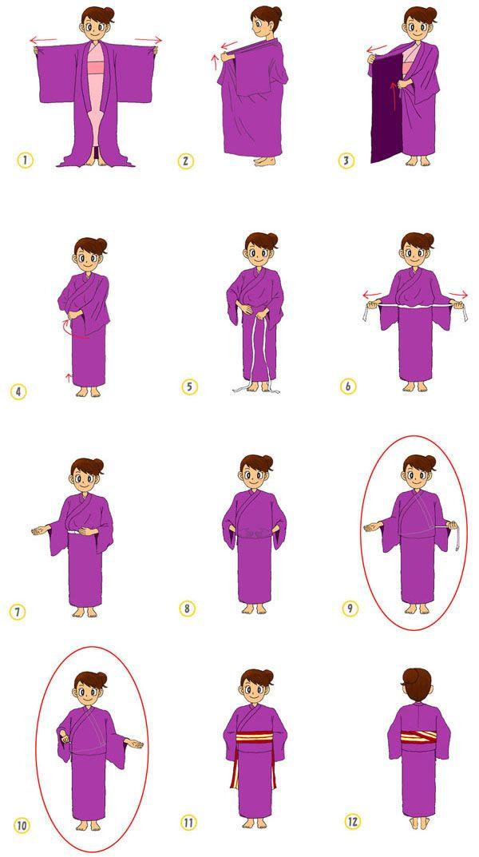 How to wear a kimono or a yukata
