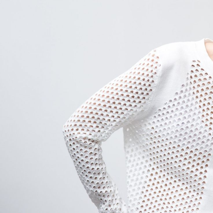figtny.com | Blessed are the Meek Alfresco Knit laser cut, fashion, design, textiles