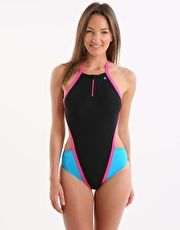 Aqua Sphere Stella Swimsuit - Black and Pink The Stella Swimsuit from Aquasphere is a funky and vibrant ladies swimming costume which is completely chlorine resistant and is ideal for squad or club training http://www.MightGet.com/january-2017-13/aqua-sphere-stella-swimsuit--black-and-pink.asp