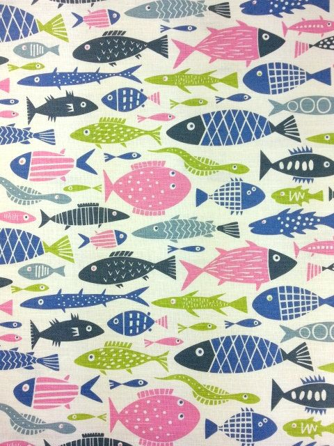 9 best images about fabric the sea on pinterest ux ui for Fish pattern fabric