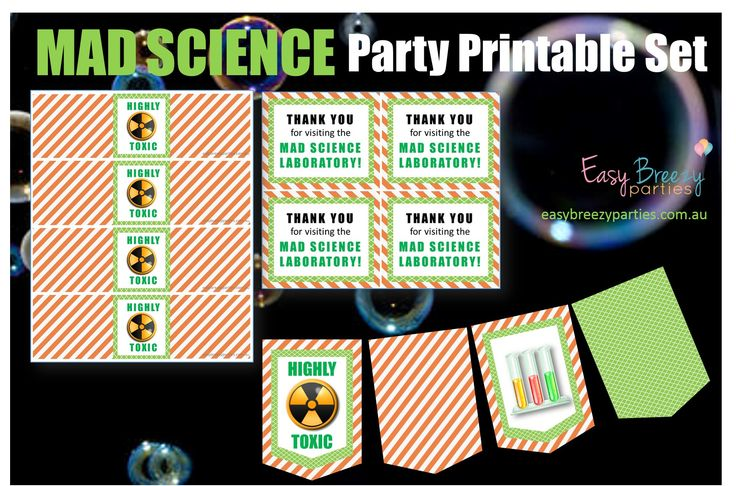Science Tags: Best 75+ Easy Breezy Parties: Etsy Shop Images On