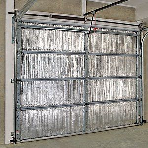 Garage Door Insulation Kit $100 each.  I'm not sure if one kit does one double garage door or single door.  I like the idea but wish it were only $50.  Battic Door Home Energy Conservation Products   P.O. Box 15 - Mansfield, MA 02048 U.S.A. Tel: 508.320.9082 -  Email: info@batticdoor.com