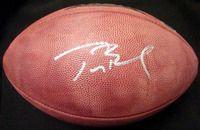Tom Brady Autographed Super Bowl 39 Leather Football New England Patriots TriStar Stock