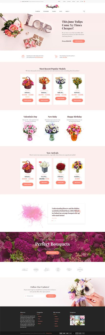 Flowers, Plants & Gifts Online Store #WooCommerce #template. #themes #business #responsive #WooCommercethemes