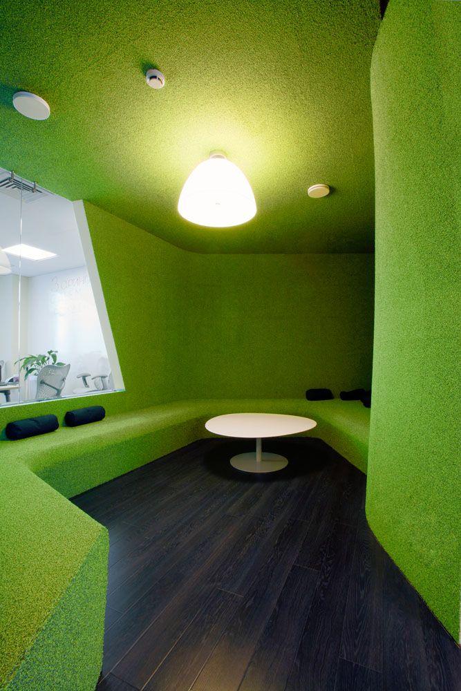 Kazan Yandex Office / Za Bor Architects: Za Bor, Meeting Rooms, Offices Design, Design Ideas, Green Wall, Kazan Yandex, Yandex Offices, Bor Architects, Design Offices