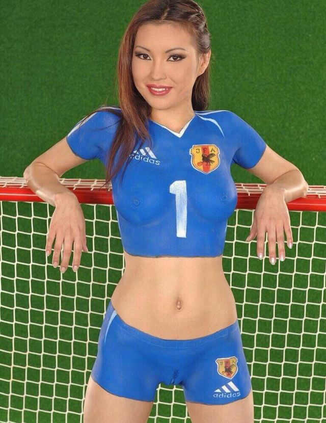 69 best images about women world cup bodypainting 2014 on for Body paint girl photo