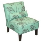 Queen Anne's Lace Upholstered Chair - Aqua: Living Rooms, Offices Bathroom, Slippers Chairs, Upholstered Chairs, Piano Rooms, Armless Chairs, Accent Chairs, Queen Anne Lace, Design Blog