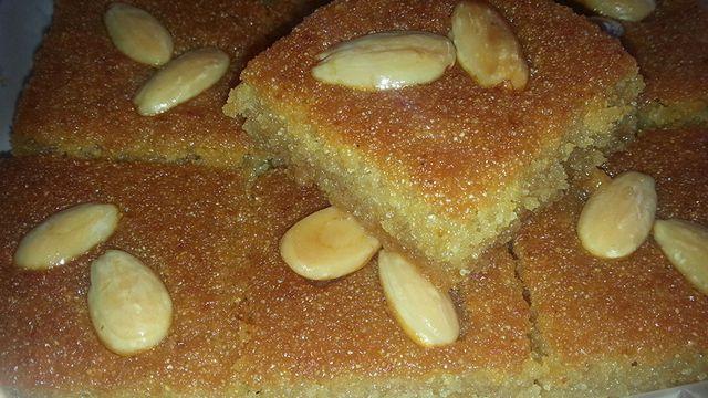 اسهل طريقة لعمل البسبوسة Recipe Arabic Dessert Desserts Baklava