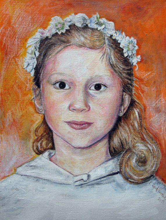 A custom oil on canvas portrait 35 x 28 90cm.x 70cm. by kaguzal, author Kamila Guzal-Pośrednik
