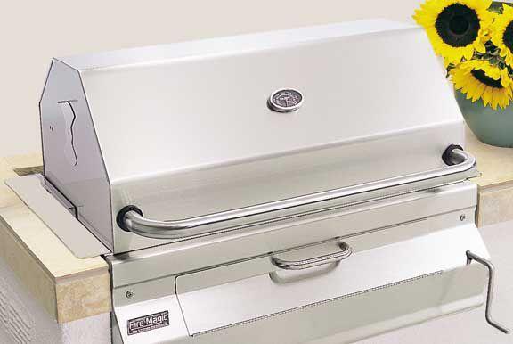 Barbecue a carbonella / da incasso / in acciaio inossidabile / professionale…