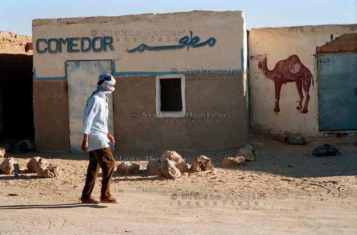 The Saharawi refugee camp El Aayun.