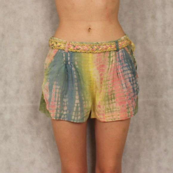 Urban Outfitters Pastel Tie Dye Short Purchased at Urban in Germany, unique tie dye and lace shorts, cotton and viscose, super soft, worn once, great condition Urban Outfitters Shorts