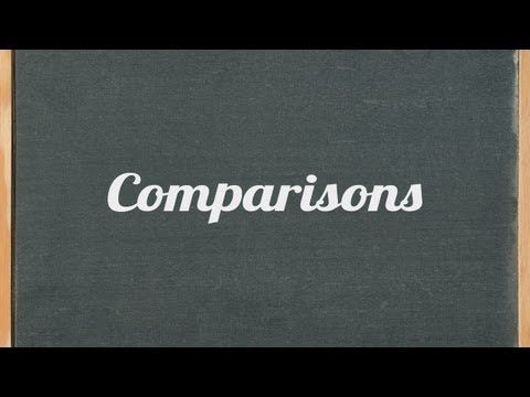 How to make comparisons