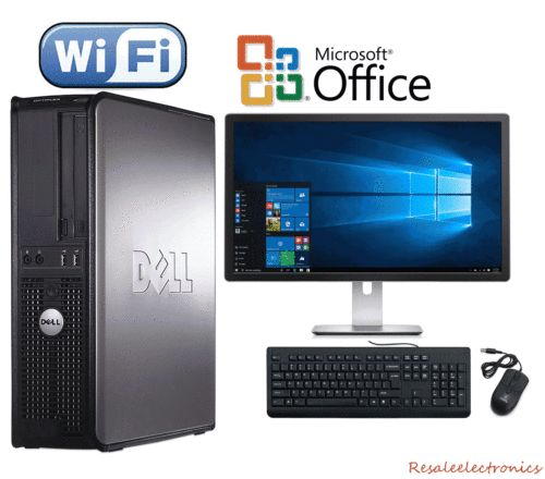 nice CLEARANCE!!! Fast Dell Desktop Computer PC Core 2 Duo WINDOWS 10 + LCD + KB + MS