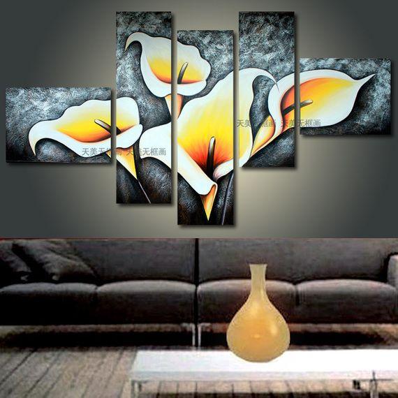 Pintura sin marco ee uu murales pintados a mano de for Painting canvas ideas for living room
